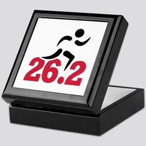 26.2 miles marathon runner Keepsake Box